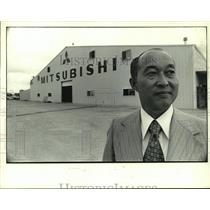 1973 Press Photo Makoto Kurowiwa, Mitsubishi Plant President-San Angelo, Texas