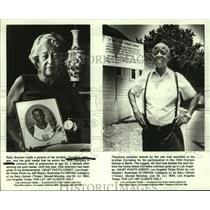 Press Photo Ruby Braxton, Theodore Johnson remember Olympian brother - Cornelius