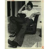 1975 Press Photo San Antonio Spurs Basketball Player Bobby Warren at Home