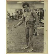 1979 Press Photo Bodybuilder Carlos Rodriguez Working Out - sas19790
