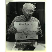 1987 Press Photo Former Chicago Bears Football Player Roy White - sas19842