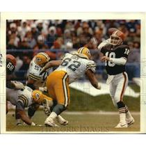 1992 Press Photo Green Bay Packers football player Mike Tomczak in action