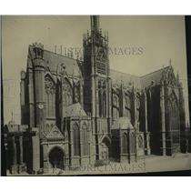 1918 Press Photo The Cathedral at Metz, France - spb22589