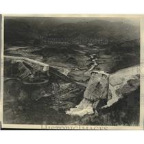 1928 Press Photo Aerian View of Remains from the Flood Disaster in California