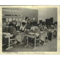 1961 Press Photo Classroom on Navajo Reservation in Arizona - noo33978