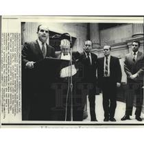 1968 Press Photo State Representative Lynch and others at Tennessee House