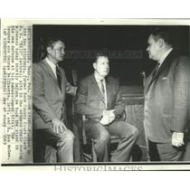"""1969 Press Photo W.W. """"Bill"""" Luttrell sits in own defense of embezzlement trial"""
