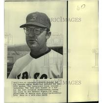 1972 Press Photo Boston Red Sox baseball manager Eddie Kasko - nos17557