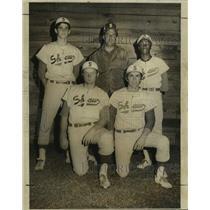 1972 Press Photo Shaw High baseball coach Ernie Knoblach and players - nos17957