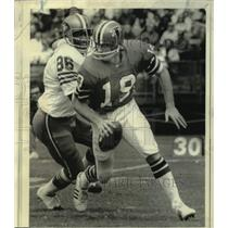 1974 Press Photo Atlanta Falcons football player Bob Lee vs. San Francisco