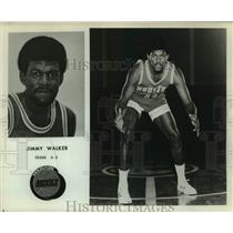 Press Photo Houston Rockets Basketball Player Jimmy Walker in Defensive Crouch