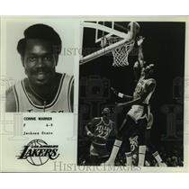 Press Photo Los Angeles Lakers Basketball Player Connie Warner - sas20006