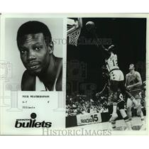 Press Photo Washington Bullets Basketball Player Nick Weatherspoon Takes Lay-Up