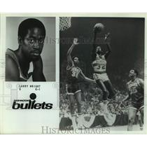 Press Photo Washington Bullets Basketball Player Larry Wright Goes Up For Shot