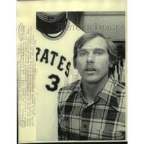 1976 Press Photo Pittsburgh Pirates baseball player Richie Hebner - nos17356