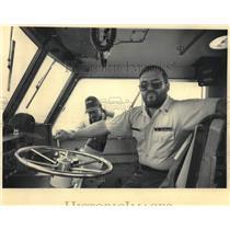 1983 Press Photo Milwaukee U.S Coast Guardsmen Clint Williams & William Walker
