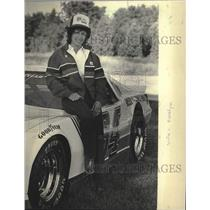 1984 Press Photo Carolyn Peterson, wife of auto racer in Milwaukee Sentinel 200