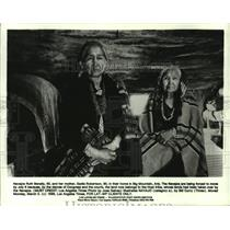 1986 Press Photo Navajos Ruth Benally, Sadie Robertson-Big Mountain, Arizona