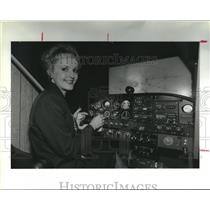 1991 Press Photo Private pilot Joann Roemer; Space City Ninety-Nines member, TX