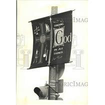 1993 Press Photo religious street signs near Marquette University, Wisconsin