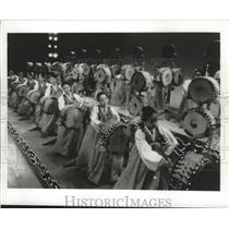 1993 Press Photo The Little Angels of Korea, a children's folk ballet, Korea.