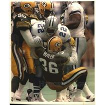 1994 Press Photo Green Bay Packers & Dallas football players during playoff game