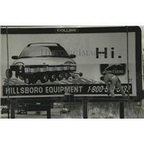 1994 Press Photo Billboard Ad for Farm Equipment in Richland Center, Wisconsin