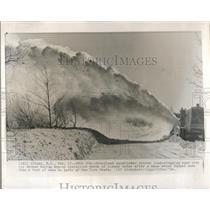 1964 Press Photo Snowblower Road New York