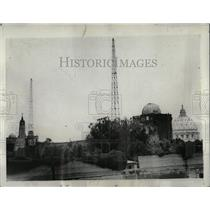 1930 Press Photo Vatican City Italy Wireless Station - RRY59997