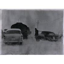 1957 Press Photo Snowstorm Texas Panhandle - RRX54219