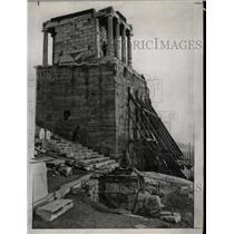 1934 Press Photo Victory Temple Ruins Acropolis Athens - RRX73603