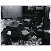 1960 Press Photo Communists Detroit Wrecked Office - RRW88983