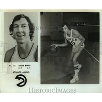Press Photo Atlanta Hawks Basketball Player Steve Hawes Dribbles Ball