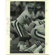 Press Photo San Francisco 49ers Football Player Steve Young Calls Play