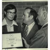 1977 Press Photo Rick Rhoades Honored Coach of the Year at Mountain Brook High