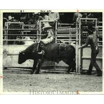 1979 Press Photo Donnie Gay, Bull Rider, at World Championship Pro Rodeo