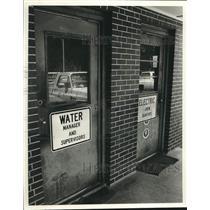1988 Press Photo Doors to break rooms for utility workers in Bessemer, Alabama