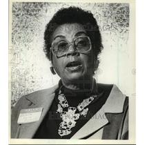 1981 Press Photo Arnita Young Boswell, sister of Whitney Young Jr-Civil Rights