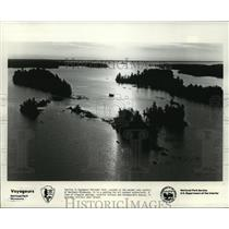 1979 Press Photo Sunrise in Voyageurs National Park Northern Minnesota