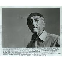 """1982 Press Photo Jacques Cousteau In """"The Warm-Blooded Sea: Mammals Of The Deep"""""""