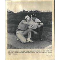 1982 Press Photo Firearms Training at the FBI Academy - mjb13026
