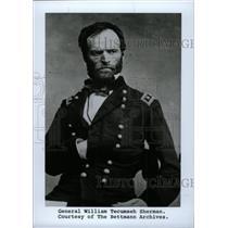 1990 Press Photo Copy General William Tecumseh Sherman - RRW76601