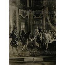 1923 Press Photo Detroit City Hall Painting King France - RRW71359
