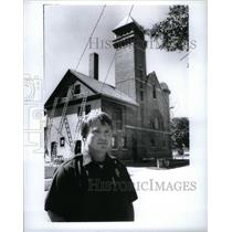 1989 Press Photo Manistee Michigan Firestation - RRX49723