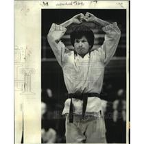 1978 Press Photo Karate - Participant in Shotokan Karate National Championship