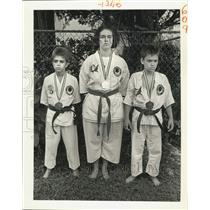 1988 Press Photo Karate students at Karate Foundation Championship in Las Vegas