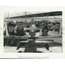 1993 Press Photo Young pilots pictured at the Model Airplane Show, St Bernard