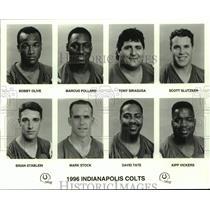 1996 Press Photo Indianapolis Colts football mug shots - nos16871