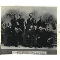 1881 Press Photo Milwaukee Sentinel Employees in 1881 - mje01690