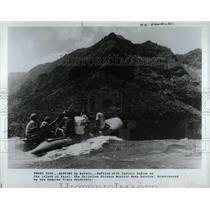 1982 Press Photo Boat Rafting Hanalei Hawaiian Coast